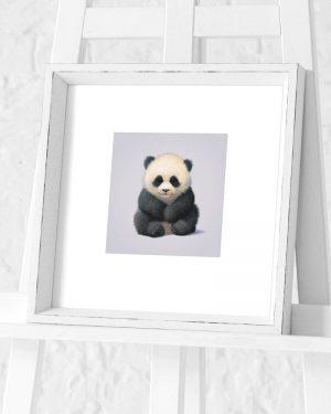 Panda Preframed Print